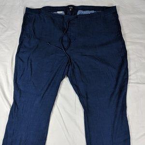 NYDJ linen blend pants size 24W tie waist